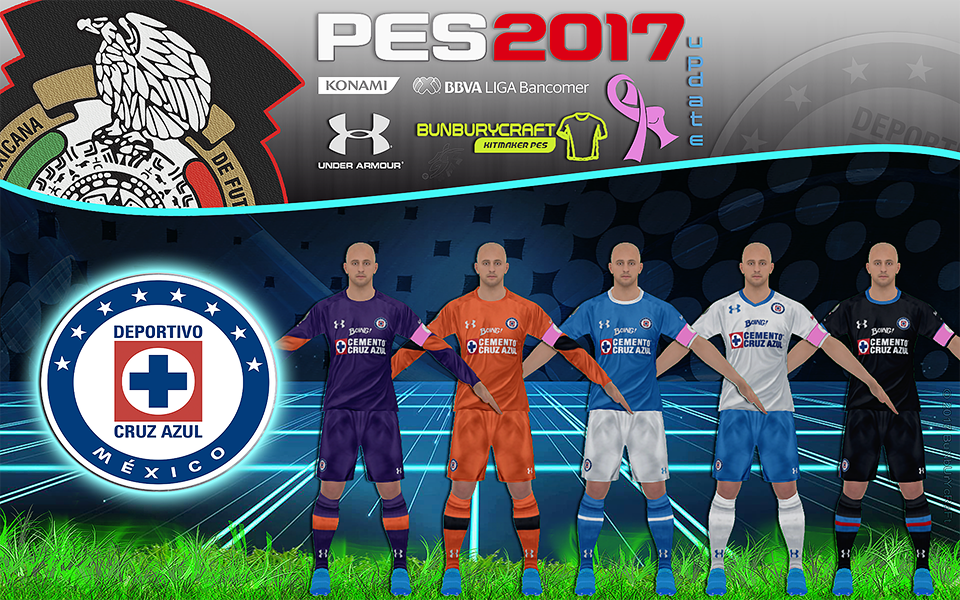 321e53ca0f9 Cruz Azul - Kitset - Under Armour - Temporada 2016/2017 - Update PES 2017